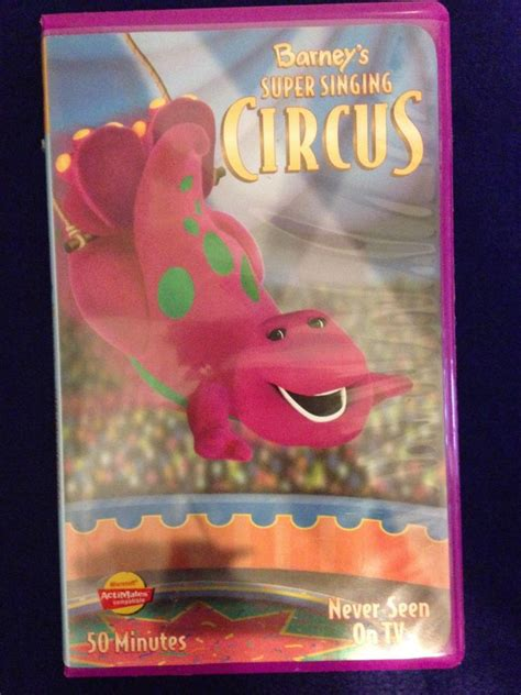 1000 images about barney the barney super singing circus purple clamshell 50 min