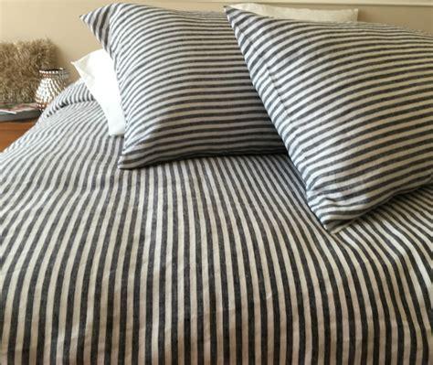 Black Ticking Stripe Duvet Cover by Ticking Stripe Duvet Covers Sweetgalas