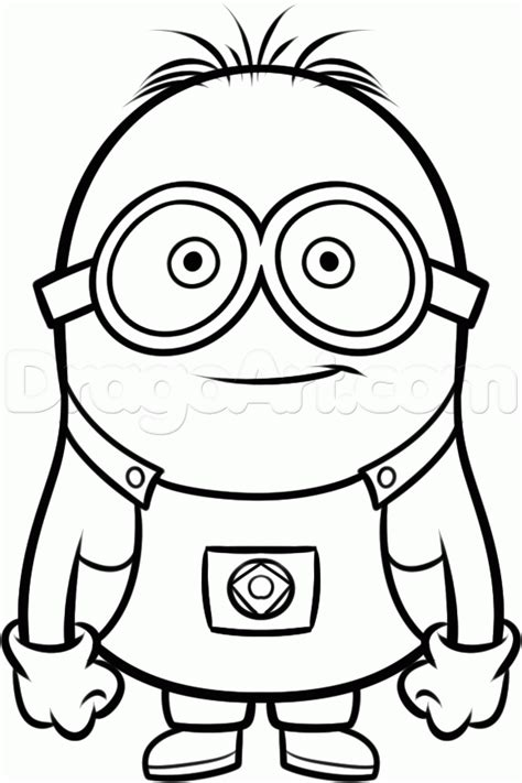minion coloring pages easy how to draw a minion from despicable me grus minions