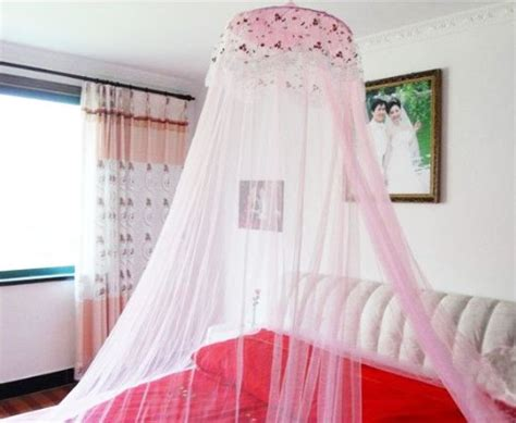 pink canopy curtains new round lace curtain dome bed canopy netting princess