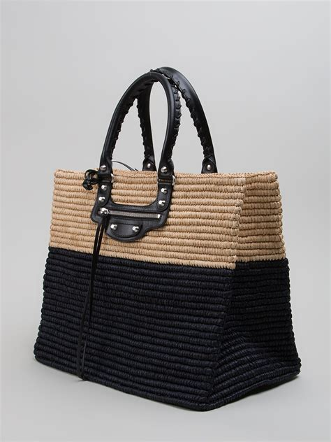 Fendi Woven Tote Supporting American Forests by Balenciaga Panier Woven Shopper Tote In Black Lyst