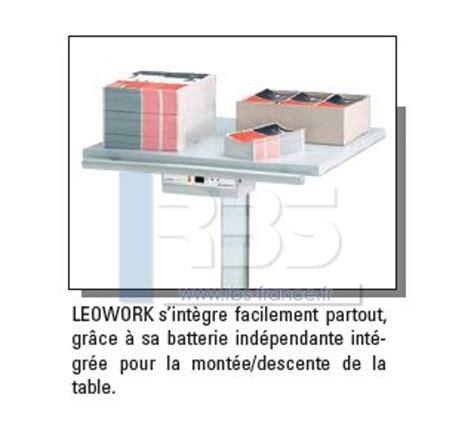 Largeur Plan De Travail 325 by Table De Travail Ergonomique Ideal Leowork Avec Pied 224