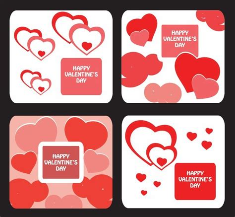 greeting card templates for valentine day free vector