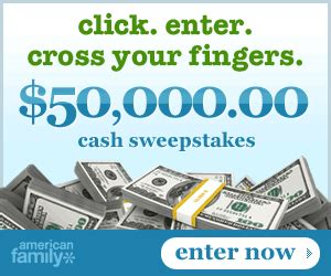 Free Money Sweepstakes - sweepstakes american family 50 000 free money giveaway the daily goodie bag