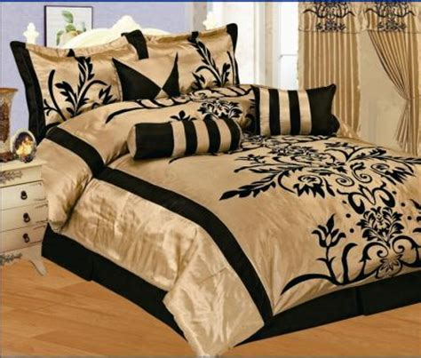 7pc king bedding black burgundy satin comforter set