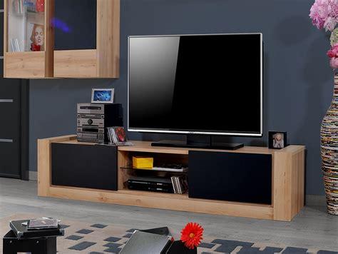ensemble meubles tv couleur chne clair et noir mat elise