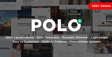 Themeforest Polo Download Responsive Multi Purpose Html5 Template Themeforest Html5 Templates