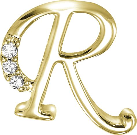 14k yellow gold 3 8 inch 0 06ct initial r pendant
