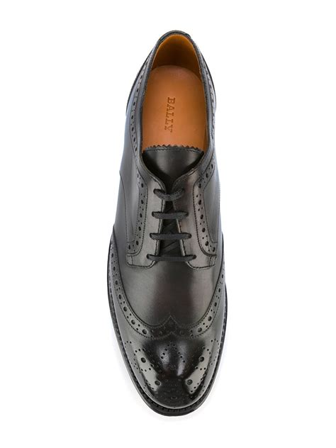bally oxford shoes bally brogue detail oxford shoes leather 40