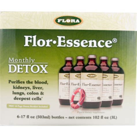 Flor Essence Detox Diet by Flora Flor Essence Monthly Detox 6 17 Fl Oz 503 Ml