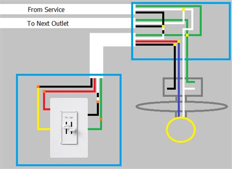 ceiling fan wiring diagram power into light single dimmer