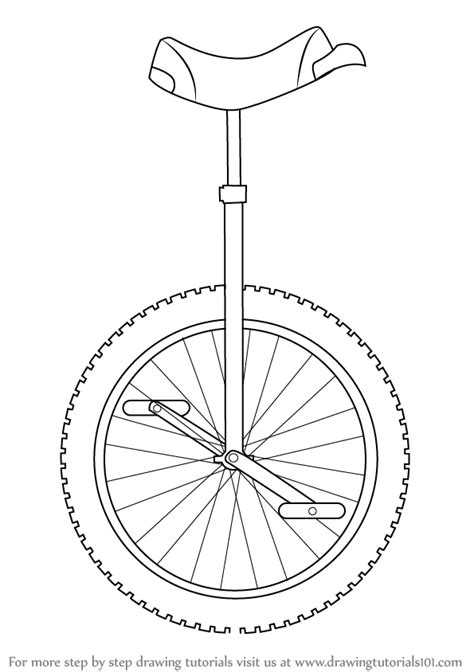 how to draw a learn how to draw a unicycle other step by step drawing tutorials