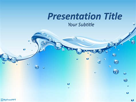 Free Water Powerpoint Templates Myfreeppt Com Microsoft Office Powerpoint Templates Water