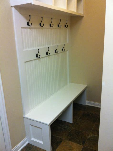 bench with cubbies and hooks mudroom bench design plans furnitureplans