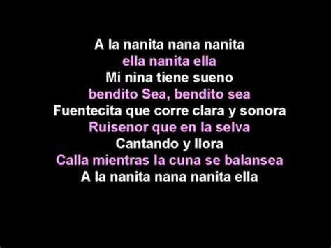 nanita nana testo the cheetah a la nanita nana lyrics