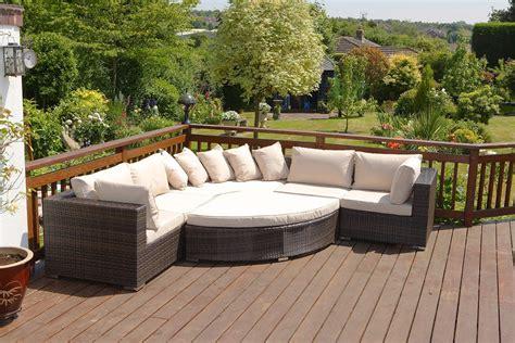 rattan garden sofa set large brown 6 piece 8 seater