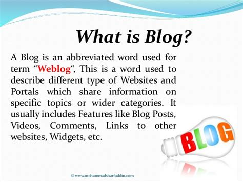 what is what is blogging
