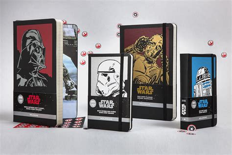 2016 moleskine star wars b00o80wcq8 star wars the force emerges from paper moleskine