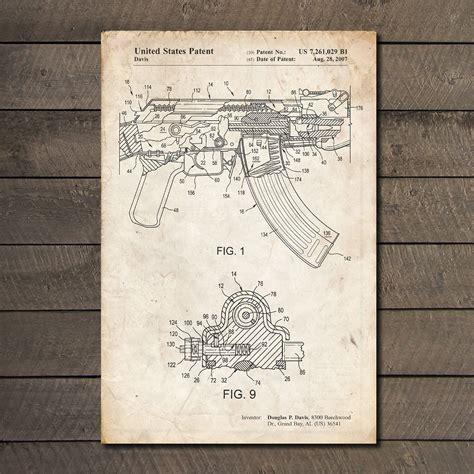 ak 47 blueprints ak 47 blueprint gun patent prints touch of modern