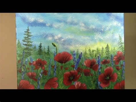watercolor tubes tutorial simple poppies painting doovi