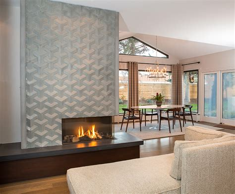 modern sided fireplace texture design memory european home
