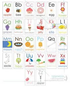 kawaii abc alphabet flash cards printable pdf
