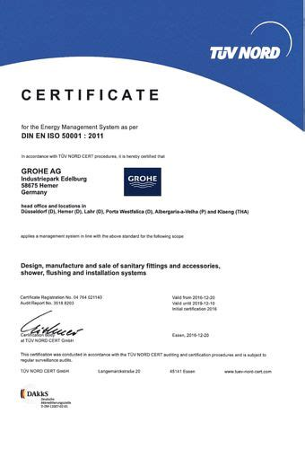 Effective Implementation Of An Iso 50001 Energy Management System Enms grohe certification iso 50001 responsibility about company