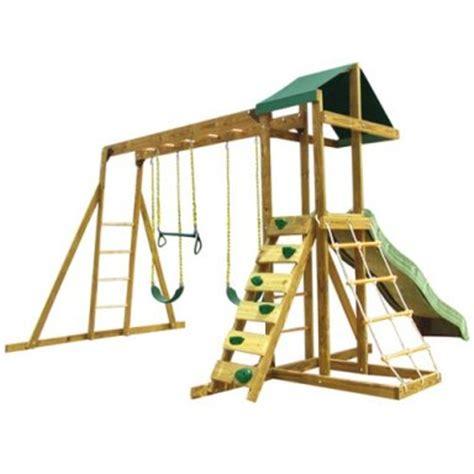 Kids Backyard Play Equipment Wooden Outdoor Jungle Gyms