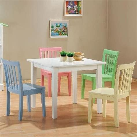Children S Dining Table 5 Set Playroom Table Chairs Contemporary Tables And Chairs By