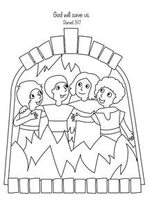 shadrach meshach and abednego coloring page free bible coloring page shadrach meshach and abednego