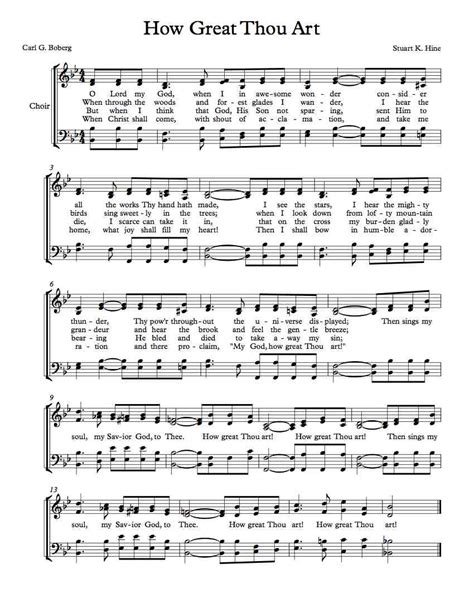 printable lyrics how great thou art history how great thou art