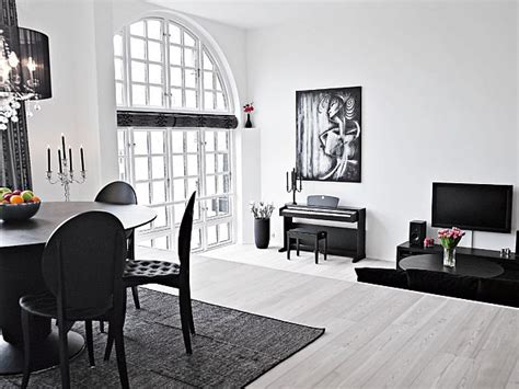 black and white interior duplex