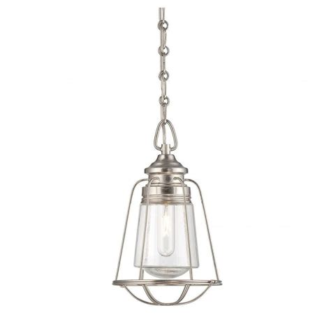 Nickel Mini Pendant Light Illumine Bri 1 Light Satin Nickel Mini Pendant Cli Sh0245275 The Home Depot
