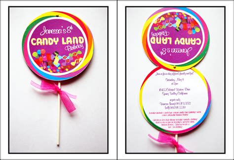 lollipop invitation template candyland invitations theruntime
