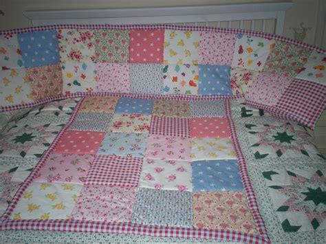 Patchwork Cot Quilt Patterns - patchwork cot bumper and quilt set my past projects