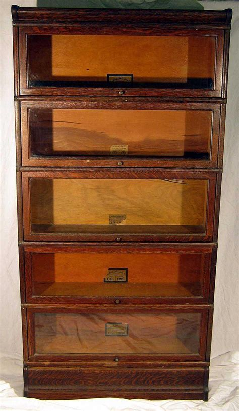 Furniture Globe Wernicke Co Antique Oak Stacking Barrister Barrister Bookcases With Glass Doors