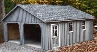24x24 2 car 2 story board and batten garage with 7 pitch roof in ny