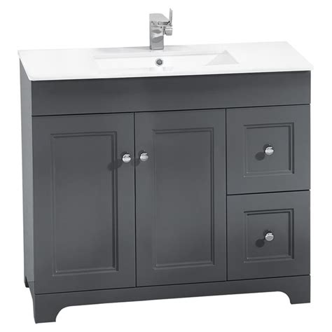 Bathroom Vanity Rona Vanity Sink 2 Doors 2 Drawers 34 1 4 Quot Grey Rona