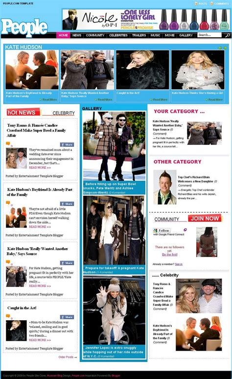 entertainment templates for blogger entertainment template blogger 2 0 people site clone template