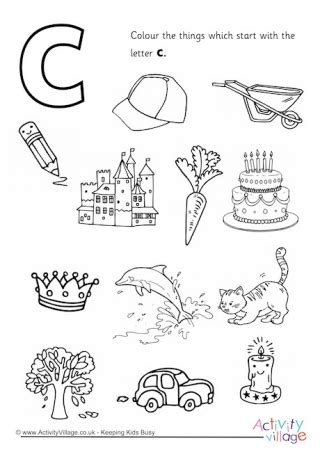 color starting with c initial letter colouring pages