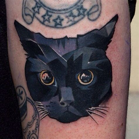 tattoo cat black deep black eyes cat tattoo tattoomagz