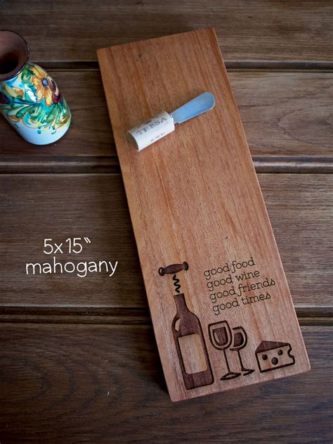 pin  laser engraved wood cutting boards  signs