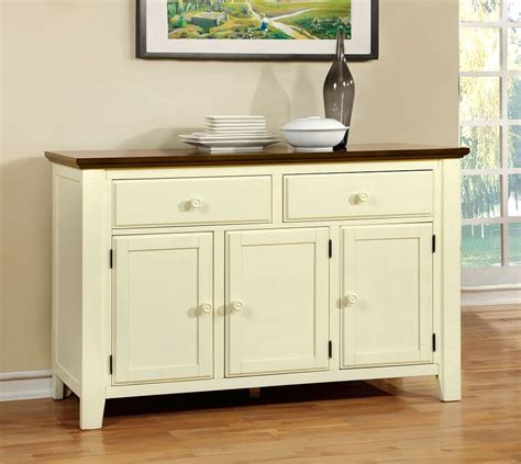 White Dining Room Server by Harrisburg Country Style Vintage White Oak Finish Server Cabinet
