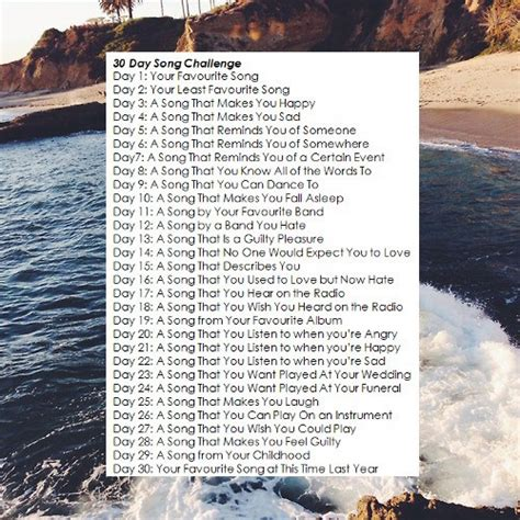 8tracks radio 30 day song challenge 25 songs free 8tracks radio 30 day song challenge 15 songs free