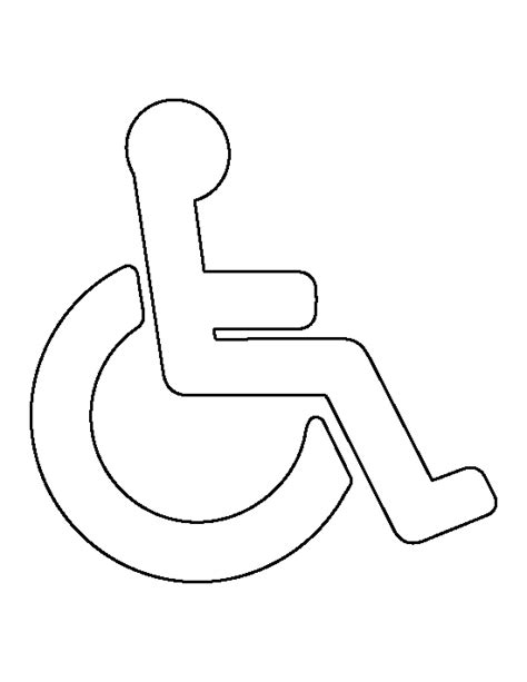 handicap template handicap symbol pattern use the printable outline for
