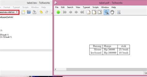 membuat tabel sederhana dengan html program sederhana membuat tabel pada latex dengan texworks
