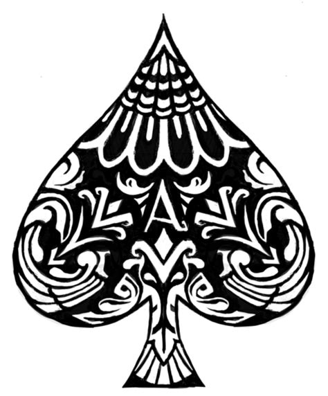 spade tattoo designs black and white symmetrical ace of spades ink and