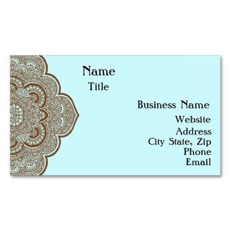 henna design business 8 best images about business cards on pinterest