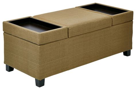 storage ottomans fabric geneva storage ottoman in woven seaweed fabric kd legs