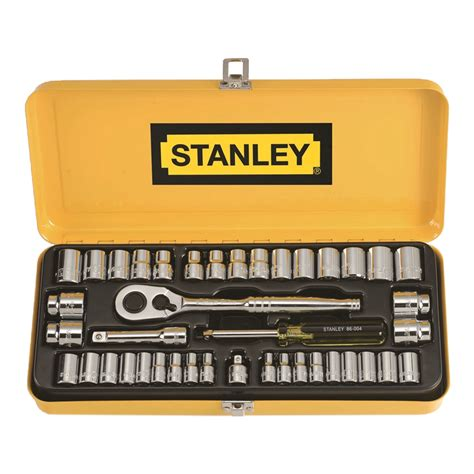 Stanley 88 187 1 23 Socket Std 12dr 12pt 36mm stanley 41 1 4 quot 3 8 quot drive socket set bunnings warehouse